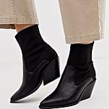 ASOS Design Rekindle Western Sock Boots