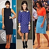 Celebs Work the Orange and Blue Combo