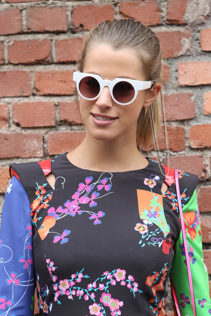 What would you top a statement-making dress with? Why, statement-making shades, of course. Source: IMAXtree
