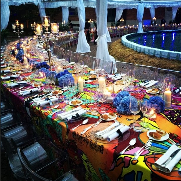 We Sat Down For Dinner At The Most Beautiful Tables We've