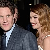 Matt Smith and Lily James at the US premiere of Pride and Prejudice and Zombies