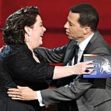 Melissa McCarthy and Jon Cryer shared a moment on stage.