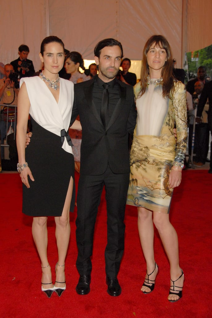 With their main man in the middle, Jennifer Connelly and Charlotte Gainsbourg both repped the brand at the 2008 Met Gala.