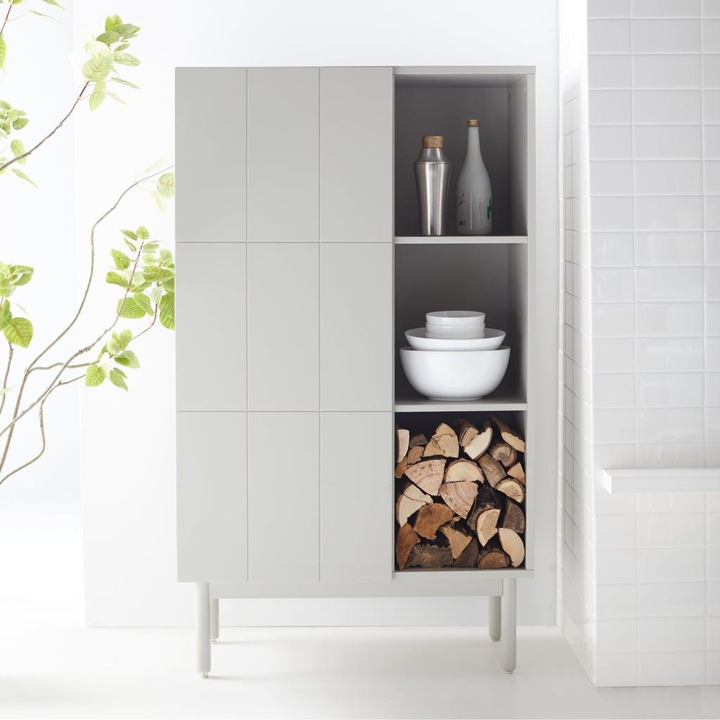 MoDRN Scandinavian Link Single Door Cabinet