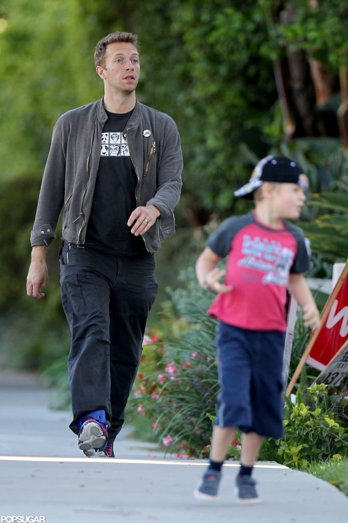 Gwyneth Does the School Run With Chris and the Kids Before Voting
