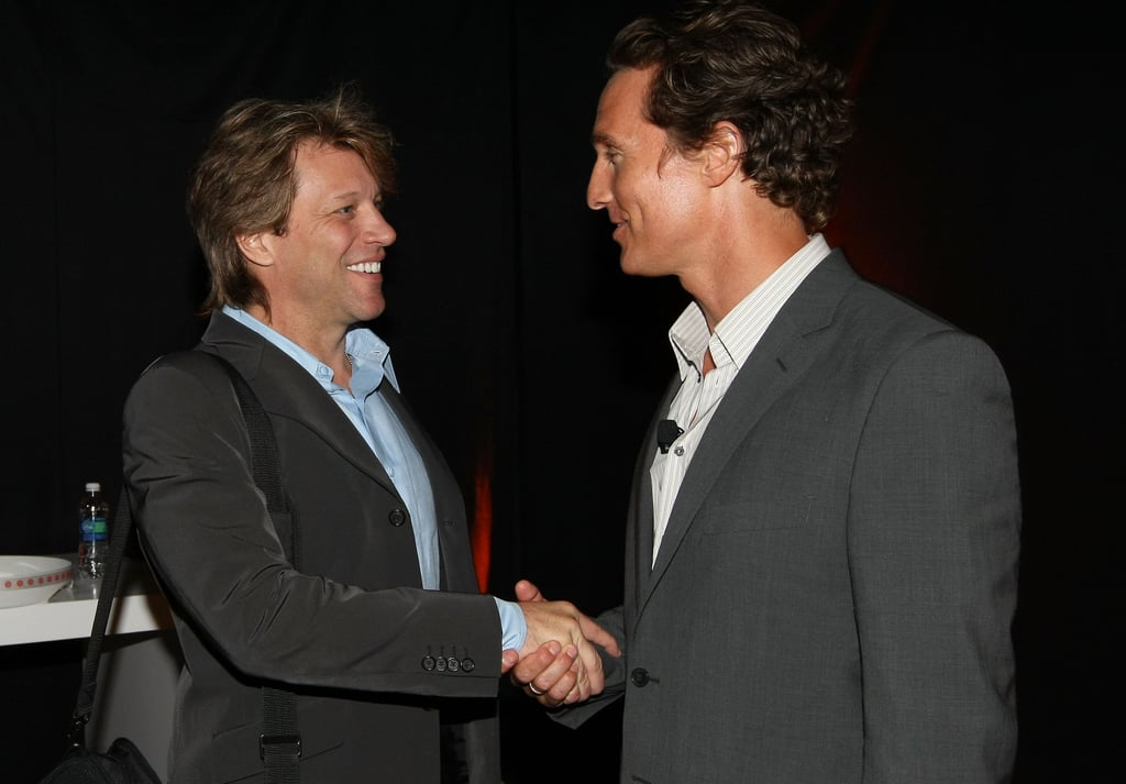 Matthew McConaughey and Jon Bon Jovi