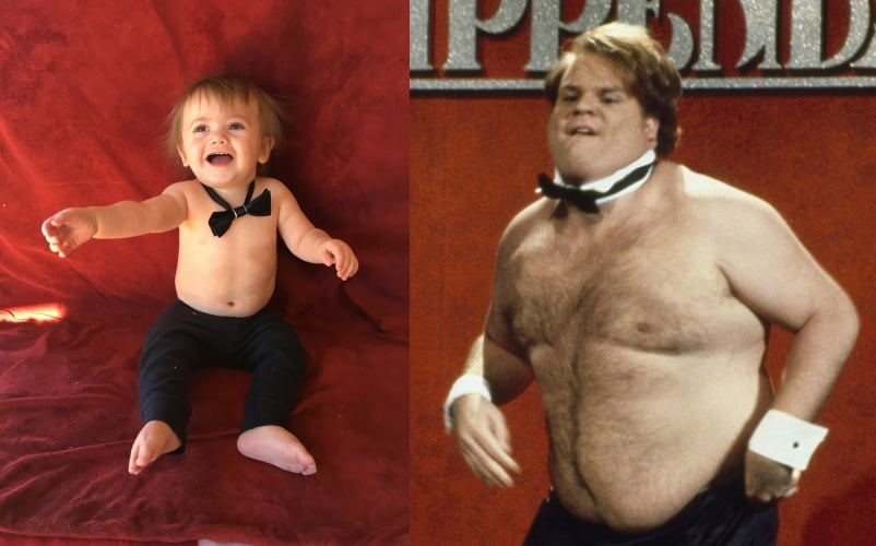 Chris Farley As A Chippendales Dancer Easy Baby Costumes