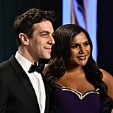B.J. Novak and Mindy Kaling at the Vanity Fair Oscars Afterparty