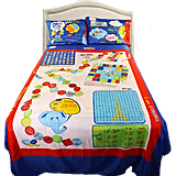 The Blue Bed Sheet Set Is Positively Decked Out With Fun Activities