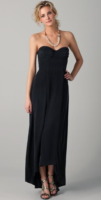 We love how this strapless maxi dress looks when styled with lace-up sandals and a statement necklace.  Zimmermann Strapless Underwire Long Dress ($450)