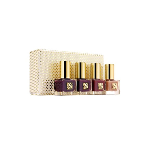 The Estée Lauder Limited Edition Delectable Nail Coffret ($28) features three berry-hued polishes and a nude shade she'll wear well after the holiday season has passed.