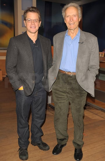 Pictures of Matt Damon and Clint Eastwood on The Early Show