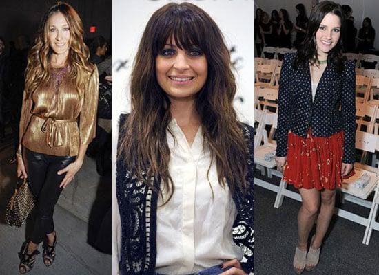 Photo of Sarah Jessica Parket and Sophia Bush at 2010 Fall New York Fashion Week
