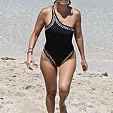 Kourtney Kardashian Norma Kamali Swimsuit Miami July 2016