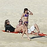 Cindy Crawford and Rande Gerber watched Kaia go swimming in Mexico.