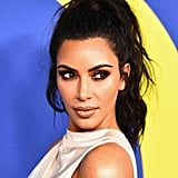 Kim Kardashian's Messy Ponytail in 2018