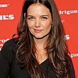 Katie Holmes gave a smile at Narciso Rodriguez's Kohl's collection launch party in NYC.