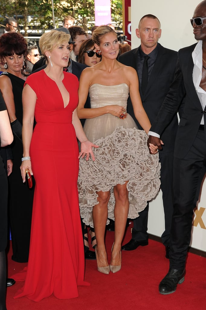 Kate Winslet and Heidi Klum at the Emmys.
