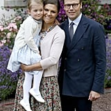 Crown Princess Victoria and Prince Daniel Pose With Princess Estelle