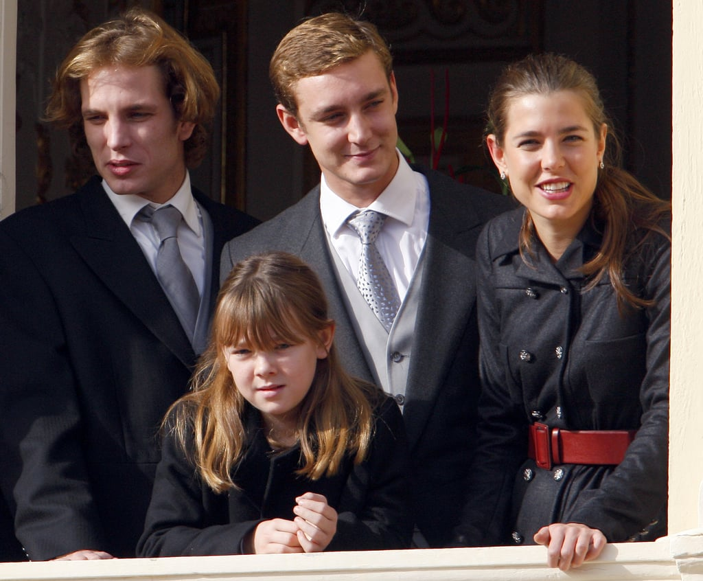 Andrea and his siblings celebrated Monaco's National Day in 2009 at the palace.