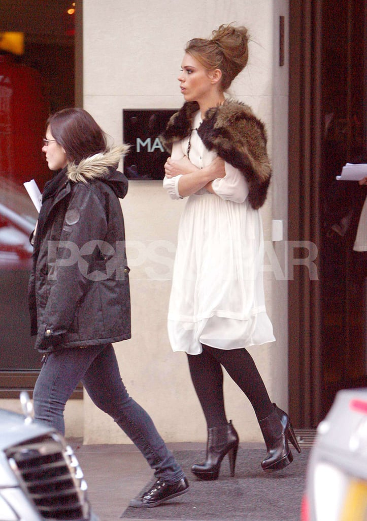 Photos of Billie Piper Filming Secret Diary of a Call Girl
