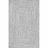 Handmade Braided Gray Indoor / Outdoor Area Rug