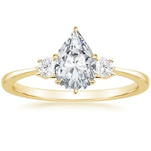 Brilliant Earth Lab Diamond Ring (1/10 ct. tw.) with 1.00 Carat Pear Lab