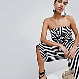 Boohoo Twist Bow Front Culotte Jumpsuit