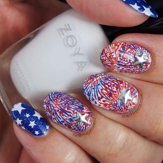 July 4 Nail Art Ideas | POPSUGAR Beauty