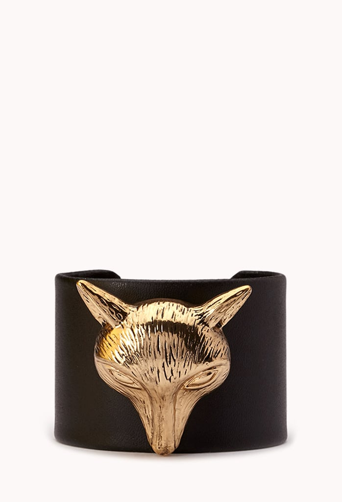 This Forever 21 Faux Leather Cuff ($9) makes a foxy gift for any animal lover.