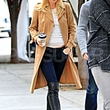 Gwyneth Paltrow wore over-the-knee boots.