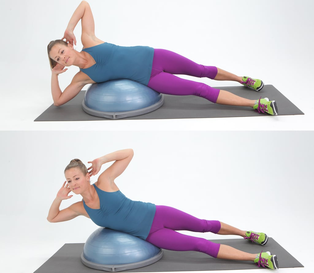 BOSU Side Crunch | Obliques Exercises | POPSUGAR Fitness ...Oblique Exercises