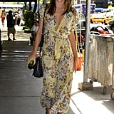 Miranda Kerr smiled for cameras while walking in NYC.
