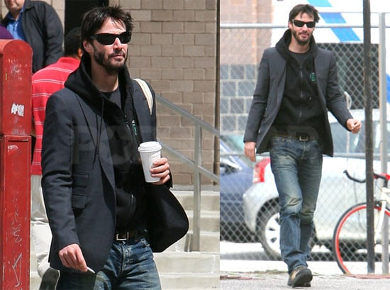 Pictures of Keanu Reeves Walking in New York