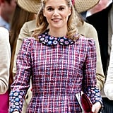 She also made an appearance at Pippa's wedding, although Pippa (who's expecting a baby next month) was not seen at Sophie's nuptials.