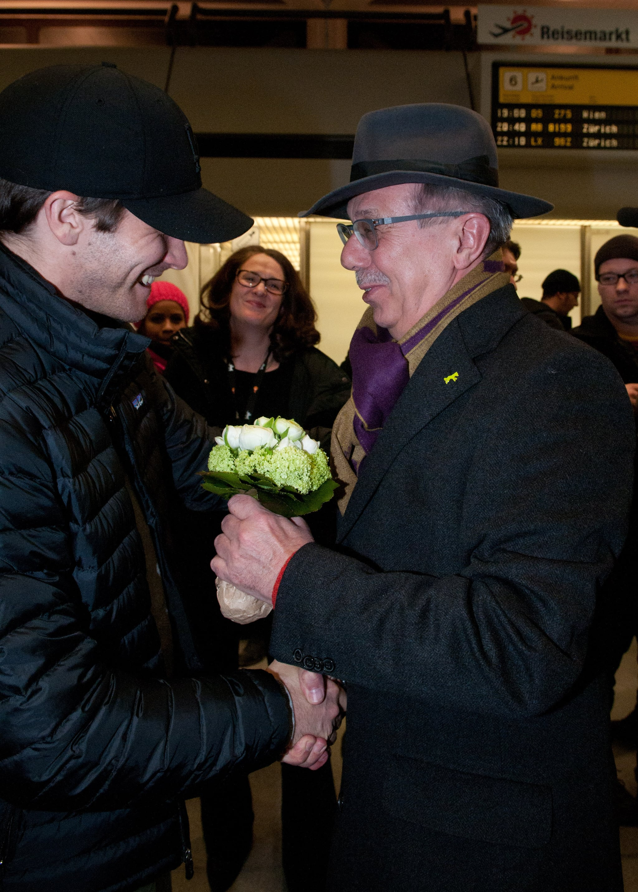 Jake shared a handshake with the Berlin Film Festival director.