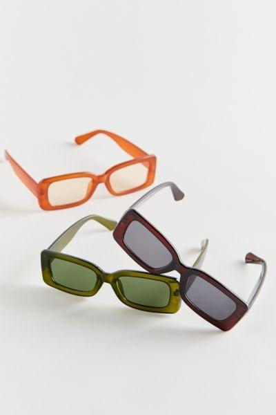 Urban Outfitters Fairfax Chunky Rectangle Sunglasses