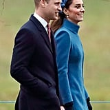 January: Kate and Will attended a church service at St. Mary Magdalene with the royal family.