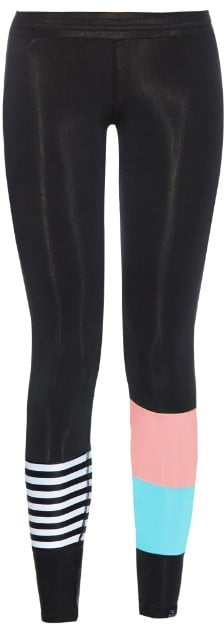 SALT GYPSY Striped and Colour-Block Performance Leggings