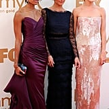 Rachael posed with her Charlie's Angels co-stars Annie Ilonzeh and Minka Kelly at the Emmy Awards in Sept. 2011.