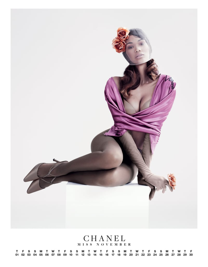 Chanel Iman posed for a Carine Roitfeld-edited spread in VMAN.