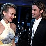 Diane Kruger and Brad Pitt