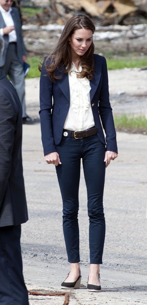 Kate Middleton visits Alberta in jeans.