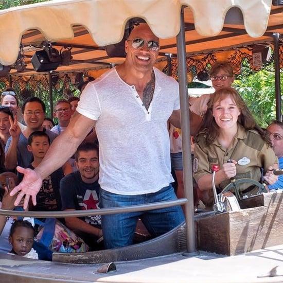 Dwayne Johnson on Disney's Jungle Cruise Ride Photo 2017