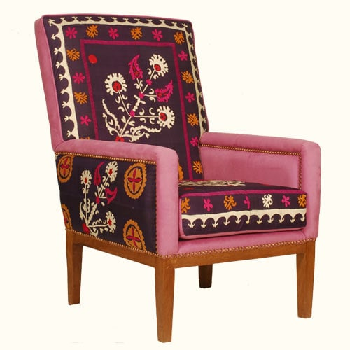 Crave Worthy Missoni Paulistano Armchair: Roundup: Ikat And Suzani Pillows For Valentine's Day