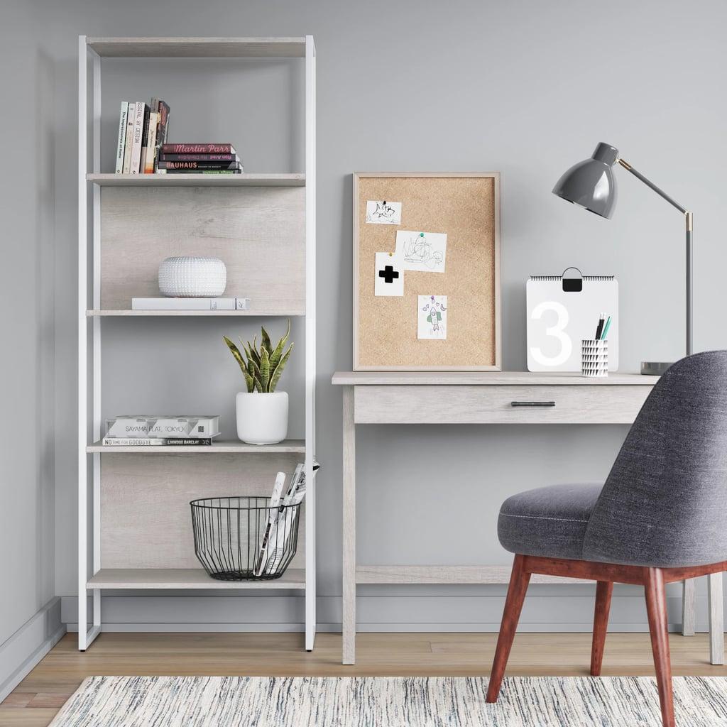 "Project 62& 66"" Paulo 4 Shelf Bookcase"