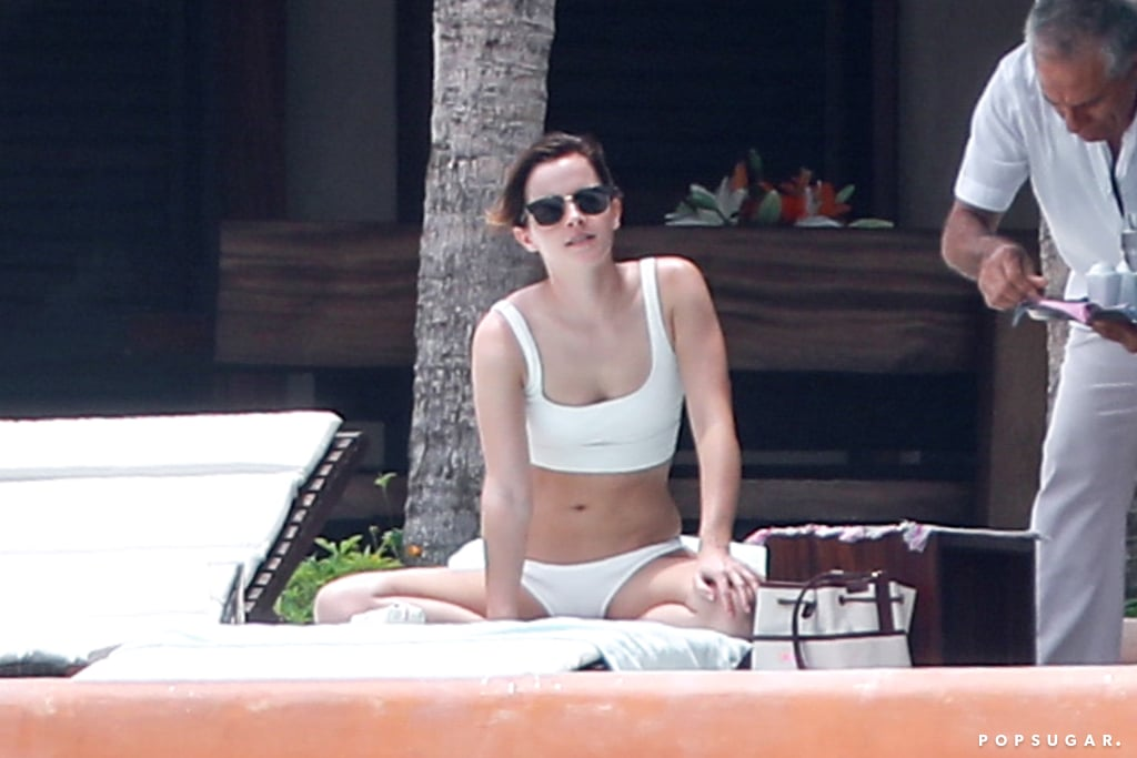 Emma Watson is getting a head start on Summer! On Monday, the 29-year-old actress was spotted enjoying some quality R&R in Cabo San Lucas, Mexico. Emma slipped into a white bikini and basked in the sun as she relaxed poolside. No word on whether her reported new beau, Cole Cook, joined her, but she did appear to be in good spirits. Reports of Emma's new romance first began swirling in May after she and Cole were spotted on a smiley date in NYC. It's unclear if she and Cole are officially dating or just hanging out, but it seems like things may be over between her and tech CEO Brendan Wallace. Cole is the cofounder of a creative agency called Timeless Eye and also happens to be Alicia Keys's brother. What a small world!       Related:                                                                                                           18 Times Emma Watson's Instagram Account Was Truly Magical