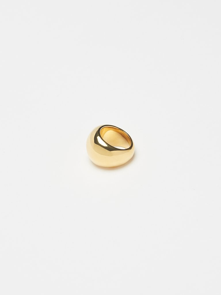 Bagatiba Large Gold Orb Ring