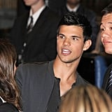 Taylor Lautner Lands Down Under to Promote His Project