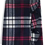 J.Crew Plaid Ruffle Skirt